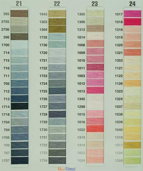 刺繍糸 ウルトラポス色見本